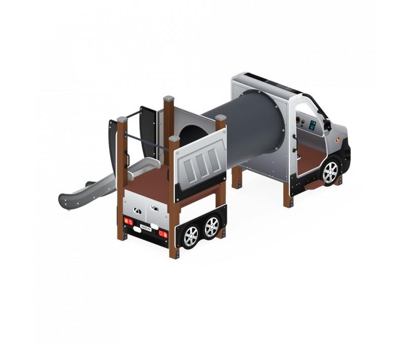 Детский игровой комплекс «Машинка с горкой 3» ДИК 1.03.1.03-02 Н 750
