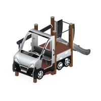 Детский игровой комплекс «Машинка с горкой 4» ДИК 1.03.1.04-02 Н 750