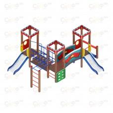 Детский игровой комплекс «Королевство» ДИК 1.15.08 H=750