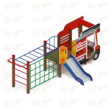 Детский игровой комплекс «Пожарная машина» ДИК 1.03.2.04-01 Н=750